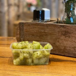 Gurkensalat vom Metzger Weller aus frischen Zutaten