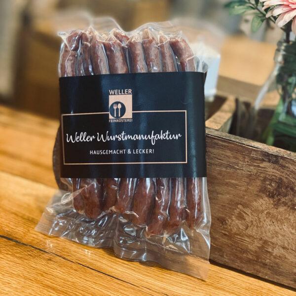 Salami-Sticks aus der WELLER Wurstmanufaktur –Hausgemacht und lecker