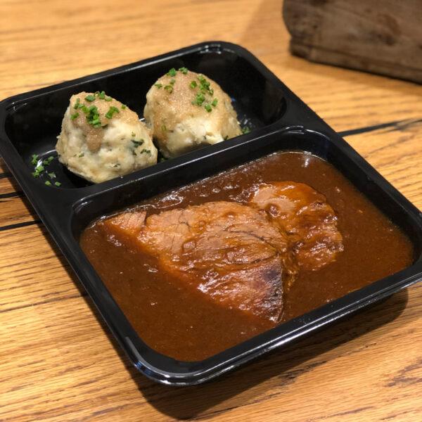 Sauerbraten und Knödel Mittagessen von WELLER